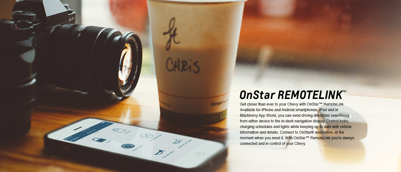 onstar remotelink app stay connected to your chevy from your phone. Black Bedroom Furniture Sets. Home Design Ideas